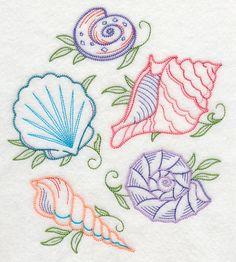 Seashell Shore Collage (Vintage)