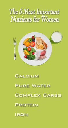 The Most Important Nutrients for Women