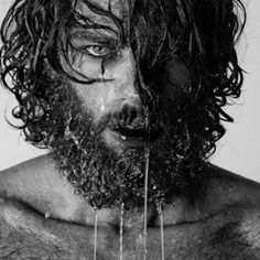 Model: Spyros Christopoulos -- Portrait - Editorial - Photography - Black and White Beards And Mustaches, Moustaches, Black And White People, Black And White Love, Sexy Beard, Beard Love, Black And White Portraits, Black And White Photography, Barba Sexy