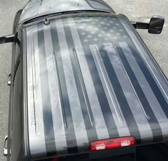 Truck Rear Window Decal Black Amp White Distressed American