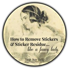 How to remove sticker residue (and stickers). Easy-peasy! #stickers #residue #FBA