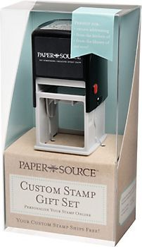 Custom Stamp Gift Box - Perfect for a custom address return label and sack lunch identification!