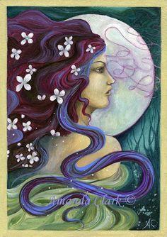 Goddess print. Cerridwen. by earthangelsarts
