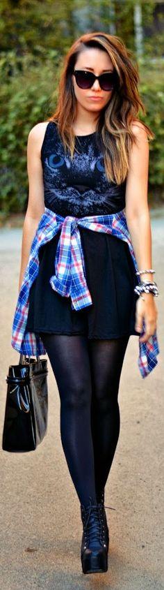Plaid Shirt For Weekend by J'adore Fashion