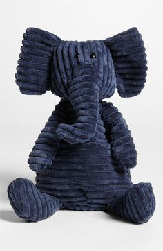 elephants, eleph stuf, animals, jellycat cordi, toy, blue, stuf anim, cordi roy, roy eleph