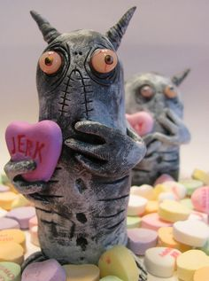 Valentine's day monster by Nicole Johnson