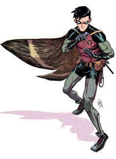 Robin by Dan Mora ✤ || CHARACTER DESIGN REFERENCES | キャラクターデザイン | çizgi film • Find more at https://www.facebook.com/CharacterDesignReferences & http://www.pinterest.com/characterdesigh if you're looking for: bandes dessinées, dessin animé #animation #banda #desenhada #toons #manga #BD #historieta #sketch #how #to #draw #strip #fumetto #settei #fumetti #manhwa #cartoni #animati #comics #cartoon || ✤