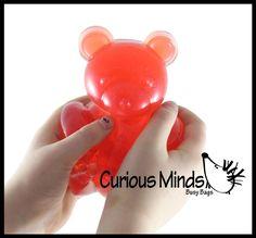 Busy Bags, Sensory Toys, Fidget Toys, Gummy Bears, Hands, Tote Bags, Gummi Bears