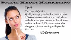 10 #Laws of #social #media #marketing... #Building your following!! Tip #3 #25dl