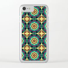 Geometric kaleidoscope with star shapes Clear iPhone Case