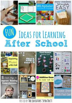 Fun Ideas for Learning After School with Kids from The Educators' Spin On It