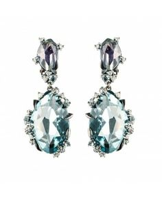 Midnight Marquis Drop Clip Earring