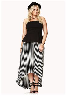 Plus size black and white party dress