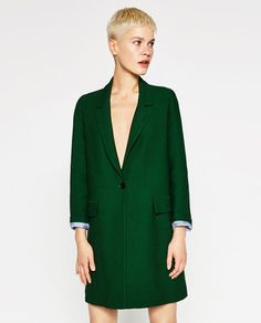 Image 1 of MASCULINE COAT from Zara