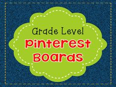 Teach123 - Tips for Teachers: Grade level Pinterest boards