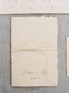 Calligraphy wedding invitation suite on deckle edge paper with a delicate tuscan inspired outdoor wedding once wed stopboris Gallery