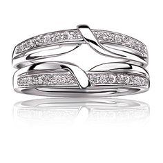 Brilliant-Cut ¼ ct. t.w. Diamond Twist Ring Enhancer in 14k White Gold