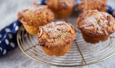 Cafe Style Apple and Rhubarb Conserve Breaky Muffins Rhubarb Cookies, Rhubarb Muffins, Gourmet Cooking, Cooking Recipes, Breakfast Muffins, Breakfast Recipes, Gourmet Apples, Sweets Recipes, Desserts