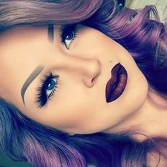 Beautiful and flawless make along with the gorgues purple hair!!!!!!!:)  love it!!