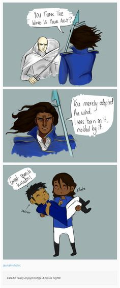 kaladin really enjoys bridge 4 movie nights by jasnah-kholin