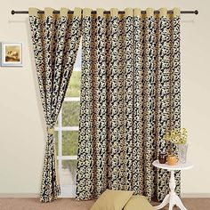 Beautify your home with the contrasting colors of the #Bronze #Night #Curtains which have an artistry akin to the swirled wakes of bronze clouds in the night sky. The black color will contrast with any shade of the wall to give your home a very elegant and sophisticated appearance.