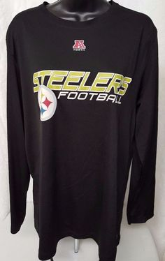 NFL Team Apparel Unisex Black/Yellow Pittsburgh Steelers Football Shirt Size L #NFLTeamApparel #PittsburghSteelers