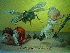 Baffling Vintage Christmas Cards