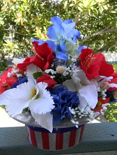 Patriotic centerpiece by Mamaws Jardin