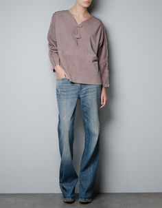 SUEDE OVERSHIRT WITH FRINGES - Woman - New this week - ZARA United States