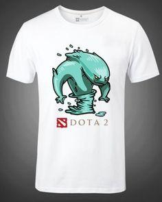 Plus size camisetas de manga curta para os homens Dota 2 herói Morphling impresso-