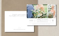 Wedding Planner Thank You Card Template. Send your clients a personal note to thank them for booking your services. Images by @sharon