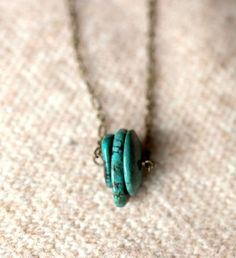 Turquoise Heishi Trio $18 from SparrowCollective on etsy