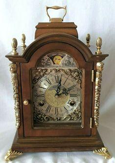 Warmink Mantel Bracket Clock Mecanical Wind Dutch Moon ...