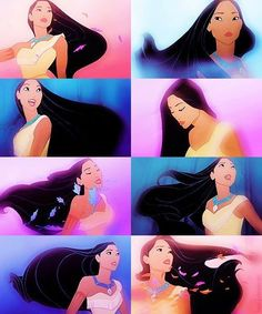 Pocahontas is my favourite! she is so in tune with her world and people. I thought I was Pocahontas. Steady as a beating drum. Disney Pixar, Disney Pocahontas, Disney Nerd, Disney And Dreamworks, Disney Girls, Disney Animation, Walt Disney, Princess Pocahontas, Princess Celestia
