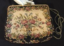 Romantic Tapestry Cocktail Purse West Germany