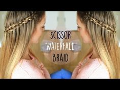 DIY Scissor Waterfall Braid Hair How to Video Tutorial | Trenza Cascada