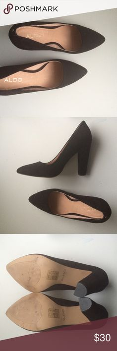 ALDO black pointed toe pumps Brand : ALDO / Size : 7 / Condition : excellent condition • very little wear on soles • no scuffs or scratches • thick heel • Aldo Shoes Heels