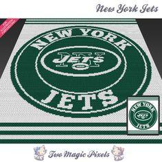 New York Jets crochet blanket pattern; Pixel Crochet, Crochet Cross, C2c Crochet, Loom Knitting Blanket, Crochet Blankets, Crochet Football, Bobble Stitch, Tapestry Crochet, Afghan Crochet Patterns