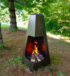 "46"" Pyramid Chiminea -- Want this for my back porch"