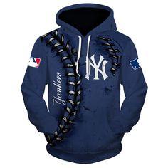 Mlb Hoodies 3 D New York Yankees Hoodies Cheap Sweatshirt Pullover Yankees Team, New York Yankees, Giants Team, Cheap Hoodies, Cool Hoodies, Men's Hoodies, Maillot Lakers, Mlb, Sports Shops