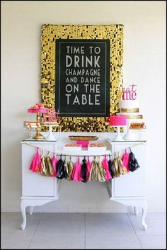 Drink or dessert display inspiration for your Award Show viewing party