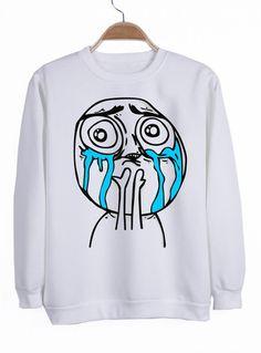crying sweatshirt