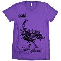 Dodo Bird Skeleton T-shirt - Babbletees