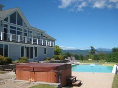 North Conway Vacation Rental - VRBO 322655 - 4 BR White Mountains House in NH, Luxury Home; 360 Mountain Views, Hot Tub, Outdoor Pool & Many Extras