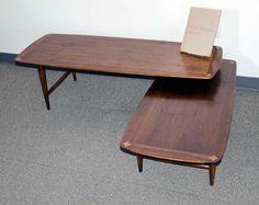 Mid Century Walnut Coffee Table - Expandable image 3
