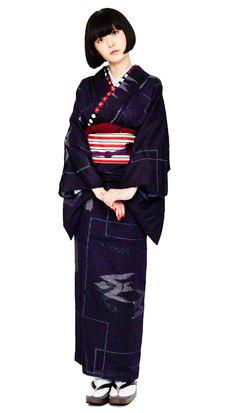 Variation 1 Yukata Kimono, Kimono Fabric, Harajuku Fashion, Japan Fashion, Geisha, Traditional Japanese Kimono, Modern Kimono, Kimono Design, Japanese Costume