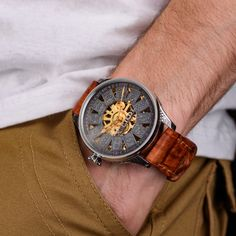 Rolex Skeletonized unique vintage Men's Wrist Watch – Patina Original Unique Vintage, Vintage Men, Mens Skeleton Watch, Custom Leather, Watch Brands, Rolex Watches, Accessories, Classy Men, Vintage Mens Style