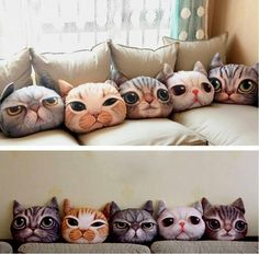 I'd really like to print out the faces of my own cats onto fabric and make pillows that look like them.