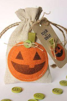 Jack-O-Lantern Treat Bag & Tag by Heather Nichols for Papertrey Ink (September 2013)