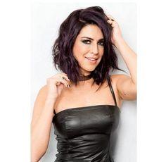 Fernanda Paes Leme muda o visual e aposta em reflexos violeta no cabelo
